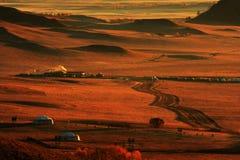 Landschaft von Bashang-Wiesen Lizenzfreie Stockbilder
