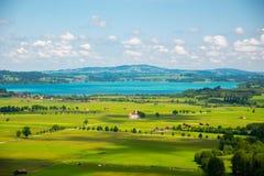 Landschaft von Bayern, Deutschland Stockfoto
