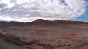 Landschaft von Berg-, Vulkan und Tal Atacama-Wüste Chile stock video