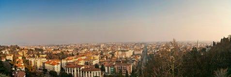 Landschaft von Bergamo - untere Stadt Lizenzfreies Stockbild