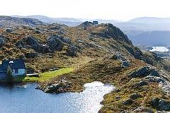 Landschaft von Bergen, Norwegen Stockfotos