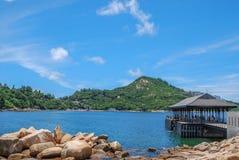 Landschaft von Blake Pier lizenzfreie stockbilder