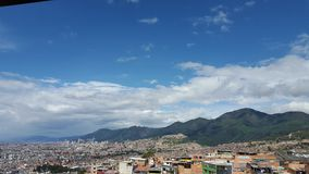 Landschaft von Bogotas Nachmittag stockbilder