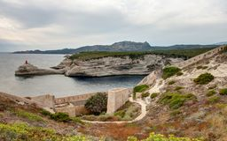 Landschaft von Bonifacio - Korsika - Frankreich lizenzfreie stockbilder