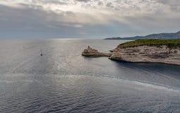Landschaft von Bonifacio - Korsika - Frankreich stockfotografie