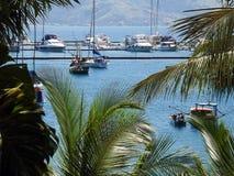 Landschaft von Booten Lizenzfreies Stockfoto