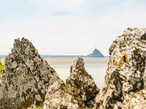 Landschaft von Bretagne und von Mont Saint-Michel, Frankreich Lizenzfreie Stockbilder