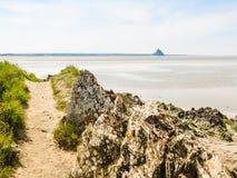 Landschaft von Bretagne und von Mont Saint-Michel, Frankreich Stockbild