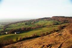 Landschaft von Cleeve-Hügel im Cotswolds Stockbilder