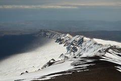 Landschaft von den Ätna-vulkanischen Bergen, Sizilien Lizenzfreies Stockbild