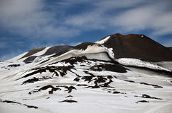 Landschaft von den Ätna-vulkanischen Bergen, Sizilien Lizenzfreie Stockbilder
