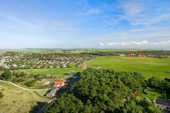 Landschaft von der holländischen Wadden-Insel stockfoto