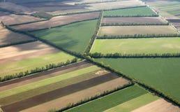 Landschaft von der Luft stockfoto