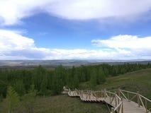 Landschaft von der Spitze Stockfoto