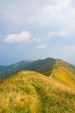 Landschaft von der Spitze eines Berges Stockbild