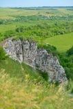 Landschaft von Divnogorie, Russland Stockbild