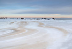 Landschaft von einem gefrorenen Meer Stockfotografie