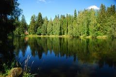 Landschaft von einem See Lizenzfreie Stockbilder