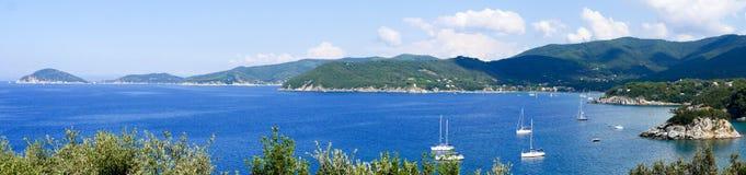 Landschaft von Elba Island Tuscany Italy Stockbild