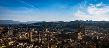 Landschaft von Florenz vom Giotto-` s Glockenturm Lizenzfreie Stockfotos