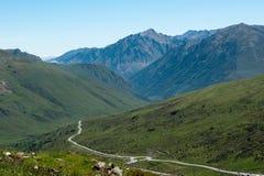 Landschaft von französischen Pyrenees stockfotos