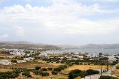 Landschaft von Hafen Adamas Milos Stockbilder