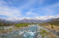 Landschaft von Hakuba in Nagano, Japan Lizenzfreies Stockfoto
