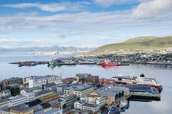 Landschaft von Hammerfest lizenzfreies stockfoto