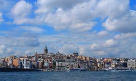 Landschaft von Istanbul und von Bosporus Stockbild
