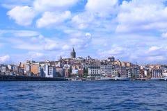 Landschaft von Istanbul und von Bosporus Stockfotografie