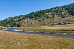 Landschaft von italienischen Alpen Stockfotos
