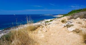Landschaft von Kamenjak Kap Stockbild