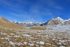 Landschaft von Khunjerab-Durchlauf Stockfotografie