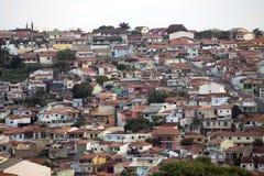 Landschaft von kleiner Stadt Lizenzfreie Stockfotografie