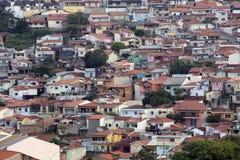 Landschaft von kleiner Stadt Lizenzfreie Stockbilder