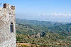Landschaft von Kruja-Schloss Stockbild