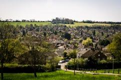 Landschaft von ländlichen Gebäuden Lizenzfreie Stockfotografie