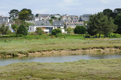 Landschaft von L Ile groß in Bretagne Stockbild
