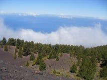Landschaft von La vulcano Bereich von La Palma Lizenzfreie Stockbilder