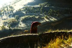 Landschaft von Labrang Lamasery stockfoto