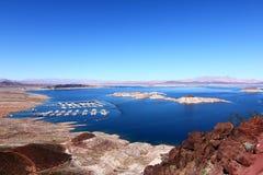 Landschaft von Lake Mead stockbild