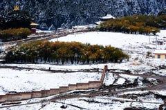 Landschaft von Langmu-Tempel lizenzfreie stockfotografie