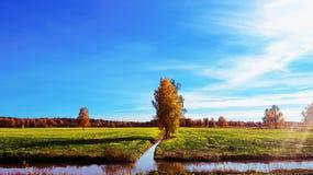 Landschaft von Lettland stockfotografie