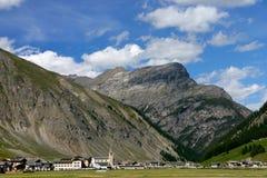 Landschaft von Livigno Stockbilder