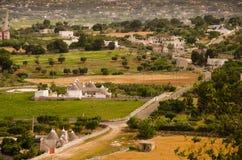 Landschaft von Locorotondo, Italien lizenzfreies stockbild