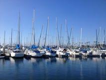 Landschaft von Long Beach Jachthafen Lizenzfreies Stockfoto