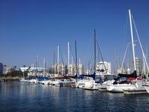 Landschaft von Long Beach Jachthafen Stockbild
