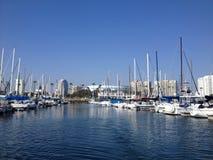 Landschaft von Long Beach Jachthafen Lizenzfreies Stockbild