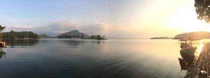 Landschaft von Malahayu See stockfoto