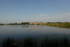 Landschaft von Mantua, Italien Lizenzfreies Stockbild